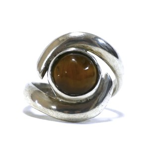 Vintage Sterling Silver Mexican Tiger's Eye Ring