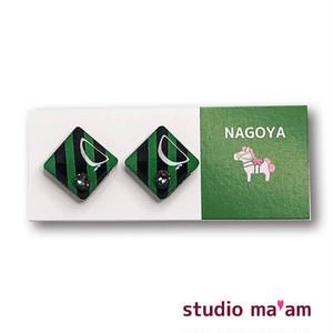 ■NAGOYA-16  ピアス。しかく。〜イヤリング変更可〜
