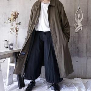 【NAUTICA】1990s oversized long balmacaan coat with lining