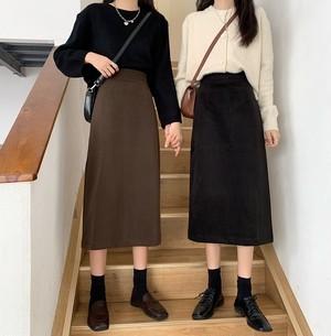 2020AW スリッドレトロカラースカート