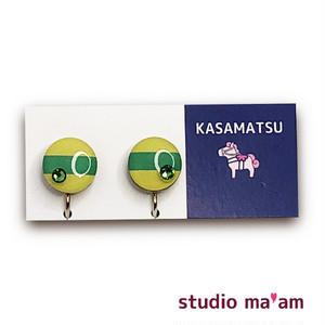 ■KASAMATSU-04 イヤリング。まる。〜ピアス変更可〜