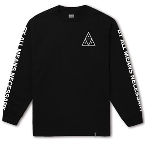 HUF ESSENTIALS TT L/S TEE BLACK