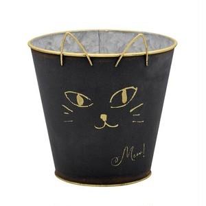 ガーデンポット 黒猫
