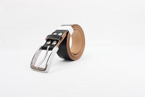 JAPAN LANSUI DESIGN 名入れ対応 ヌメ革手作り ステンレス製バクッル 品番IKJS9FK44