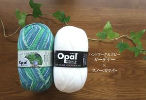 在庫1 庭師&スノーホワイトセット【ハンドワーク&ホビー OPAL毛糸】