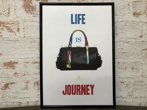アートポスター おしゃれインテリア LIFE IS A JOURNEY