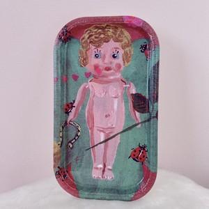 *再入荷【Nathalie Lete】ナタリー・レテ ミニトレー  お人形とてんとう虫
