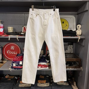 00s Levis 501 White Denim Pants USA製