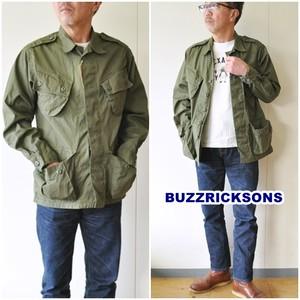 "BUZZ RICKSON'S (バズリクソンズ) ファティーグジャケット BR12247 ""COAT, MAN'S, COMBAT, TROPICAL"" オリーブ 東洋エンタープライズ"