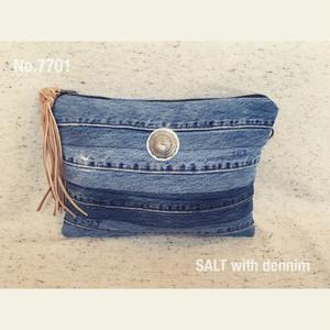 SALT with dennim クラッチ(内ポケット付) No.7771