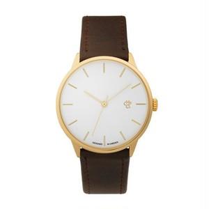 【CHPO】Khorshid Gold White dial / Brown vegan leather strap