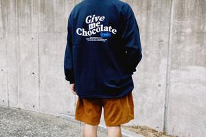 Chocolate Free Draw logo L/S Shirts【Black / Sand】
