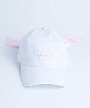 Back Ribbon Cap White