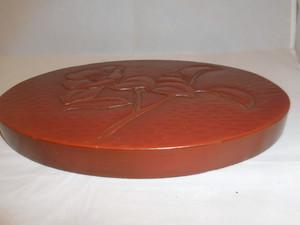 椿模様漆台 Urushi lacquer rest (camellia)