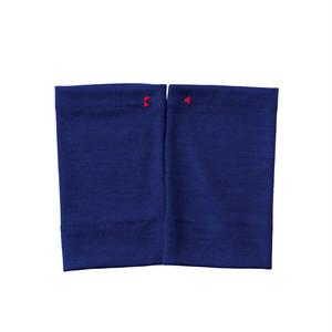 【リストマフラー】222 コバルトブルー/ウール100%/手首の冷え取り/差し色に