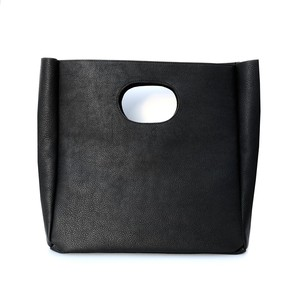 Box Leather Bag/BLACK