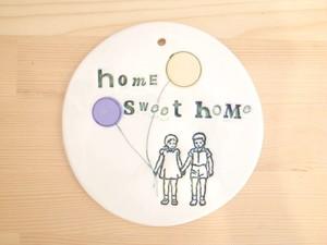 ドアサインプレート home sweet home
