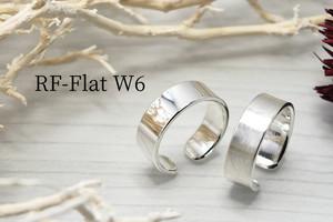 心地の良いフィット感を フリーサイズ 平打リング6mm RF-FlatW6<鏡面、ツヤ消し選択可>