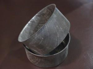 レトロな戦前製のブリキ缶ケース 2個セット 小物入れに インテリア ディスプレイ