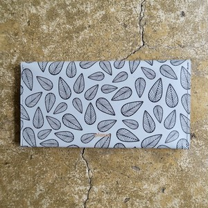Recycle Leather Wallet Leaves Grey (Planar)