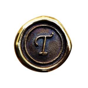シーリングイニシャル S 〈T〉 ブラス / コンチョボタン