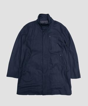 Allege Wool Jersey Coat Black AH19W-CO04