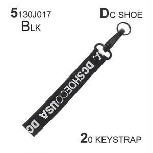 5130J017 ディーシー メンズ 20 KEYSTRAP キーストラップ キーホルダー ブラック オレンジ 選べる2色 ロゴ 雑貨 アクセサリー オシャレ ギフト DC SHOE