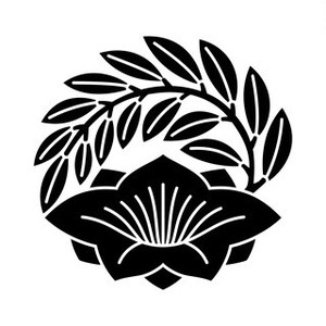 葉付き桔梗の丸 aiデータ