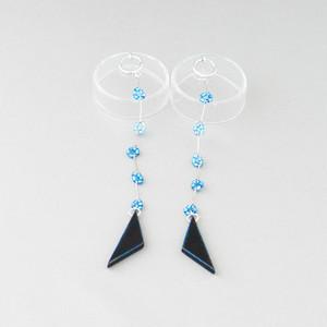 飛騨春慶のイヤリング 青/blue,blue[E316]