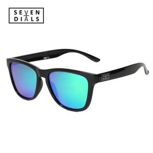 SEVEN DIALS ウェリントンタイプ 偏光サングラス 軽量 ブルーミラーレンズ UV400 紫外線99%カット ドライブ サイクリング ツーリング フィッシング等に!