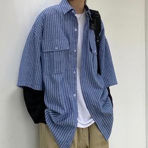 レイヤードシャツロングT BL6500