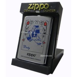 ブルー・ウィンディ・ウィズ・フラワー / Zippo Blue Windy w/ Flowers
