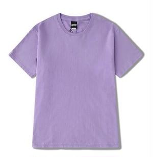 5枚セットメンズシンプル半袖Tシャツ。コットン素材ユニセックスOK5色ブルー/紫など