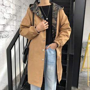 リバーシブルコート 迷彩柄ジャケット トレンチコート【0533】