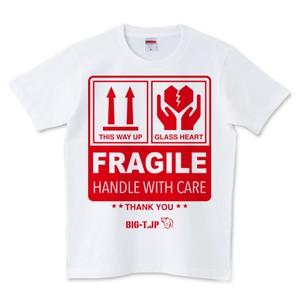 FRAGILE Tシャツ <ジョークTシャツ> ※大きめ