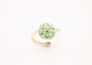 リング flower 緑