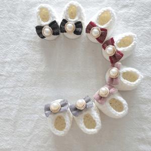 フェルゼン・シューズ ( 15cm & 20cm  人形服 [編み物])