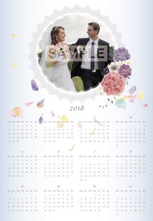 ウェディング風カレンダー 2018年版 A2サイズ