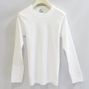 SAY YOUNG ユニセックスTシャツ長袖・ホワイト