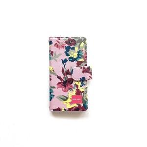 北欧デザイン iPhone手帳型ケース  | pink flower