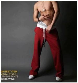 レッド XXLサイズ 男が決まるスタイル スウェット パンツ ジョガーパンツ 大きいサイズも スポーツにもかっこいい ジョギング ストレート ワイド 太め メンズ phab296