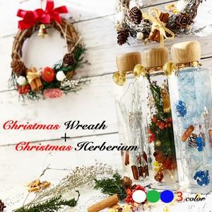 christmasハーバリウム3 color+christmasリース2 color