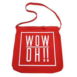 【wow OH!!】ワオ!! ショルダーバッグ レッド wow-3 Red ※こちらの商品は受注生産品となります※