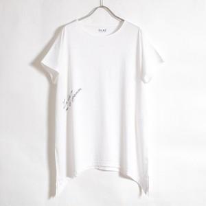 ECOVERO メッセージチュニックTシャツ