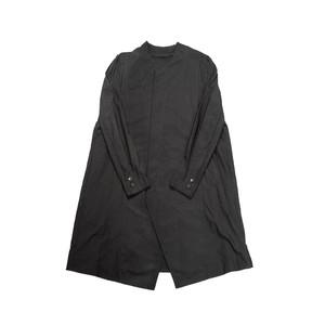 607SHM2-BLACK / シームドカラーレスシャツコート