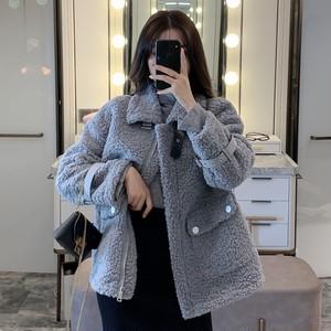 【アウター】秋冬新作無地長袖韓国風chicゆったり折り襟コート