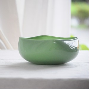"HOLMEGAARD Vintage Green Glass Bowl  ""QUADRO"""