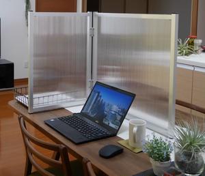 アルミパーテーションW600|半透明パネル
