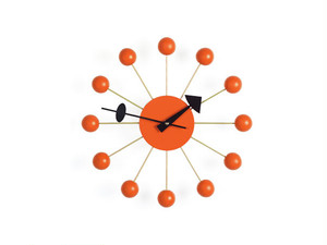 【Vitra Design Museum】Ball Clock 【Orange】
