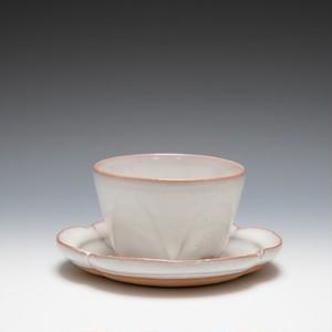 面取碗皿(白萩釉)